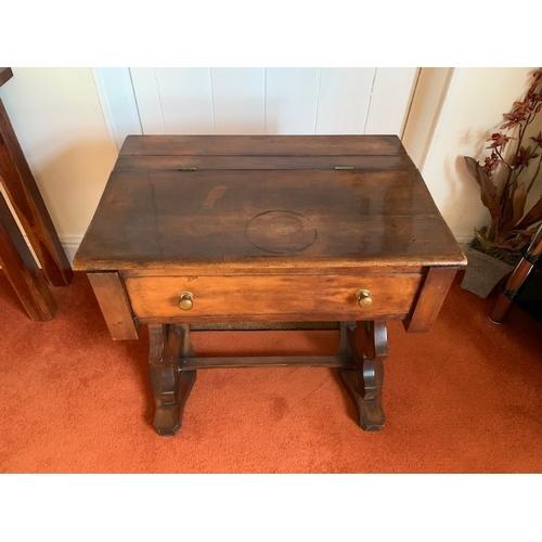 506 - Edwardian mahogany school desk with lift up top 26