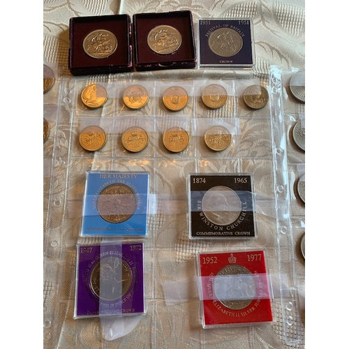 88 - 1993 £5, 1951 Crowns (3), 1953 Crown, 3 Churchill Crowns, 1980 Crown (9), 1981 Crowns (7), 1972 Crow...