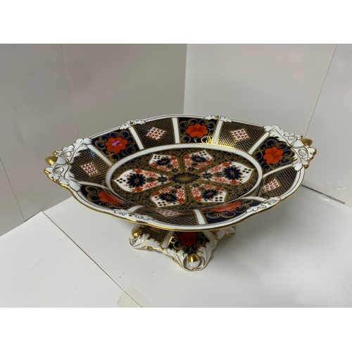 35 - Royal Crown Derby 'Old Imari' pedestal 2 handled bowl on stand 10