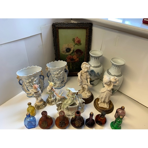 40 - Mixed Lot: small oil on board ht 12