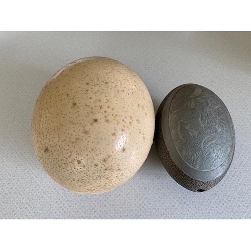 49 - 2 antique eggs, white egg 6