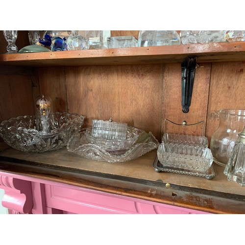 75 - Shelf of cut glass and other glassware