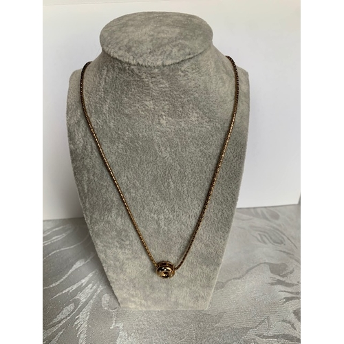181 - 9ct gold necklace and pendant 42cms, 5.22gms