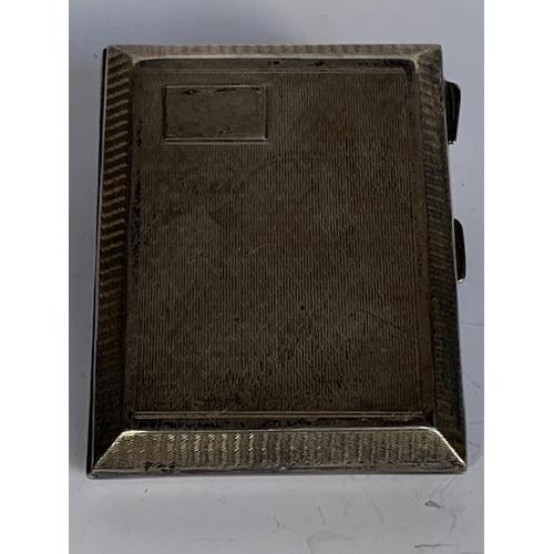 202 - Silver cigarette case 9cms x 7 cms, Birmingham 1925, 80.9gms