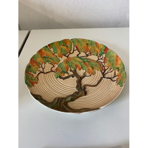 256 - Carltonware moulded charger with acorn tree design 13