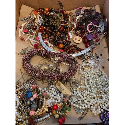 230 - Box of costume jewellery