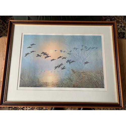 309 - 2 Peter Scott signed framed prints: Flying Ducks 29