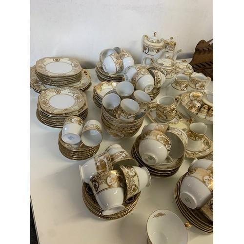 290 - 108-piece Noritake gilded afternoon tea/coffee ware (excellent condition)