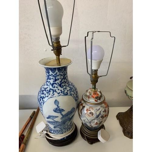 297 - 2 ceramic table lamps