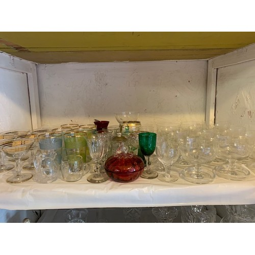 280 - Shelf of glasses