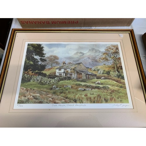 322 - Pr of limited edition signed prints of rural scenes, Judy Boyes, 21