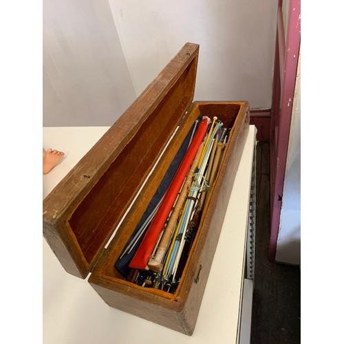 303 - Box of knitting needles