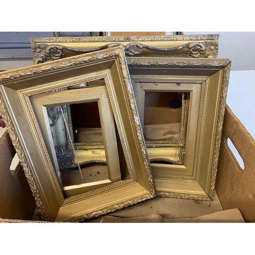 328 - 3 gilt frames in box