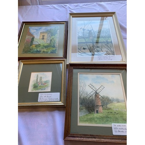 331 - Box of Howden paintings, C Potter (4)