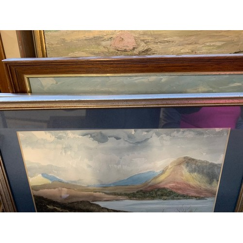 334 - Box of 10 paintings, C Potter