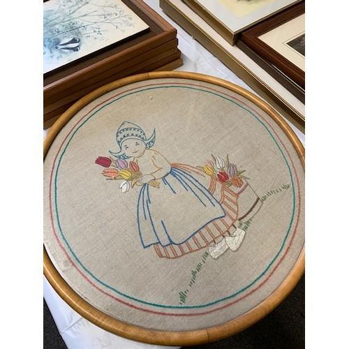 320 - Needlework - Dutch girl, 19