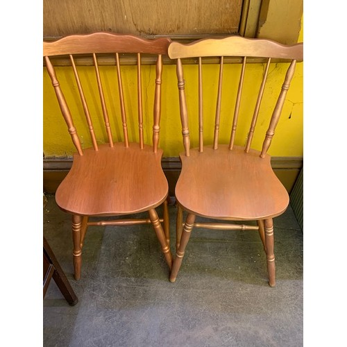 487 - Pr gold painted retro dining chairs