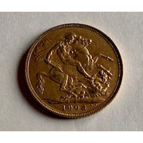 161 - Edward VII 1902 gold sovereign VF