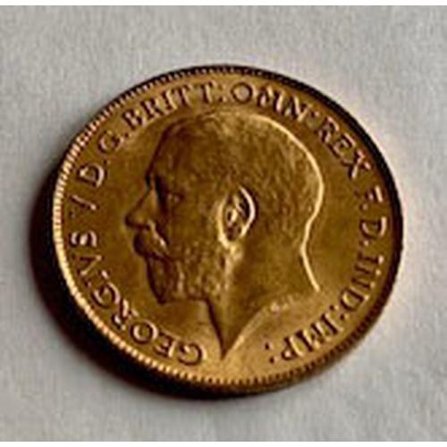 167 - George V 1915 gold half-sovereign EF