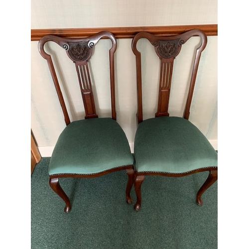 511 - Pair reproduction mahogany dining chairs