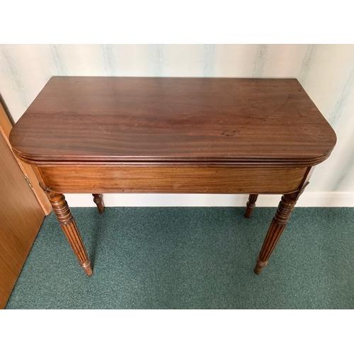 513 - Victorian mahogany tip-over tea table 35