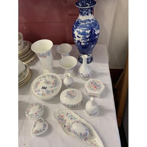 282 - 14 pieces 'Angela' Wedgwood china and Wedgwood 13