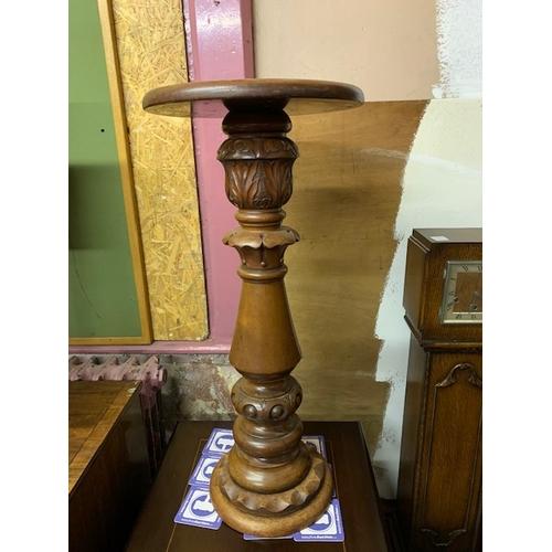 514 - Mahogany heavy carved plant stand, 31