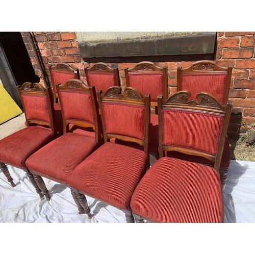 522 - Edwardian Harlequin set of 8 mahogany dining chairs, 6 x 2