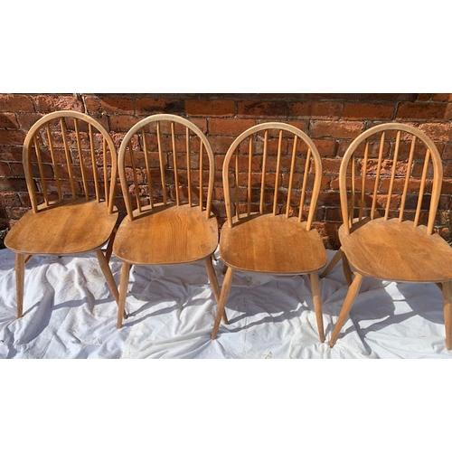 523 - Set of 4 retro kitchen chairs, stamped 1960