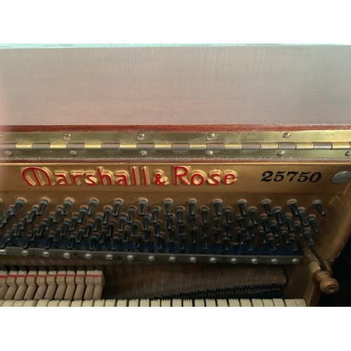 531A - Marshall & Rose rosewood overstrung piano and matching piano stool.  NB.  This item is not stored wi...