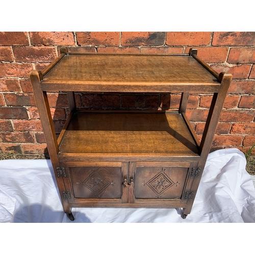 546 - Oak trolley/cupboard 24
