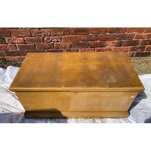 596 - Victorian pine blanket box, 38