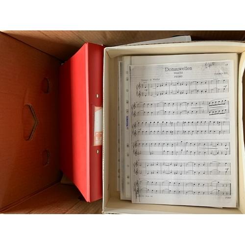 619 - Box of sheet music