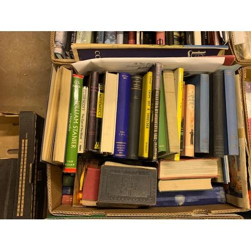 649 - 4 boxes of books etc