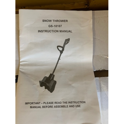 657 - Snow thrower GS-10107 in box (as new, never used)