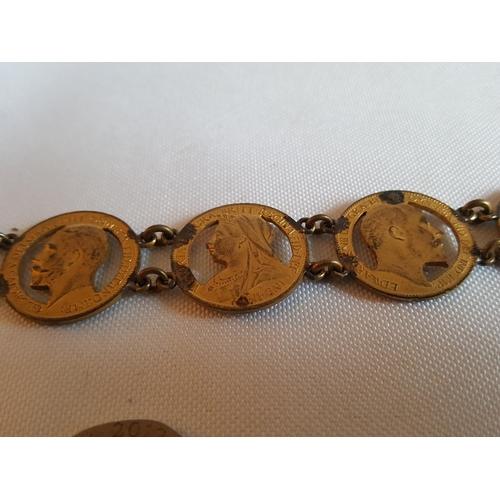 3 - vintage coin bracelet...