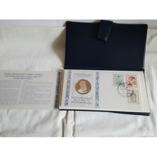 14 - Spanish 1st day cover with sterling silver coin...