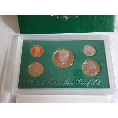 15 - USA mint proof coin set...