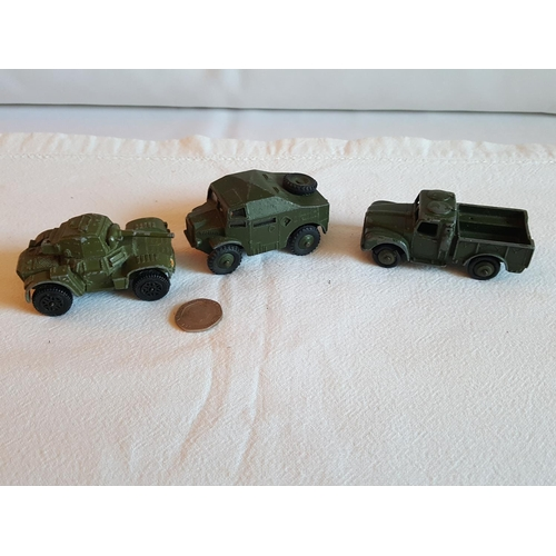 3 - 3 Dinky military vehicles...