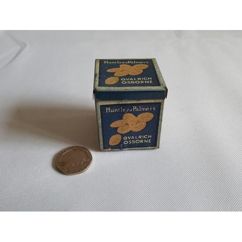30 - miniature Huntley & Parmers biscuit tin...