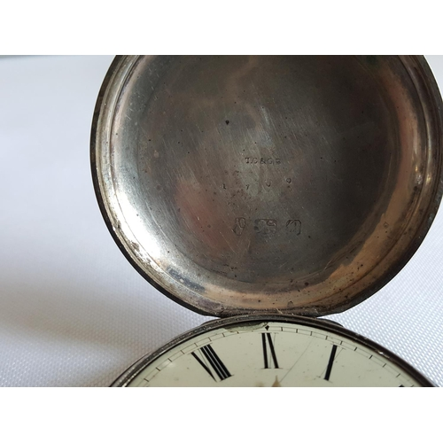 32 - large HM silver watch Chester c1840 & 1 other both A/F...