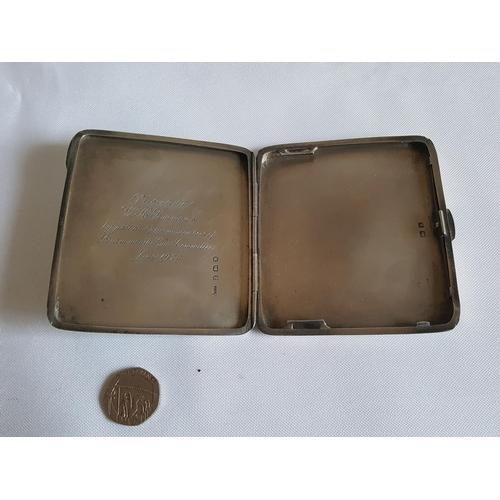 33 - HM silver cigarette case c1928...