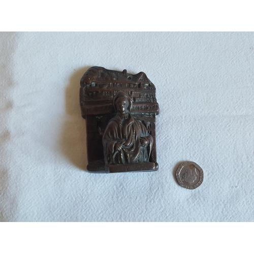 37 - vintage reclaimed old mint house door knocker 9cm...