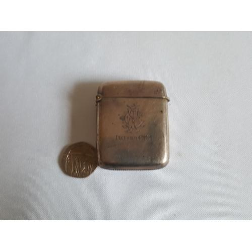 7 - HM silver vesta case c1909...