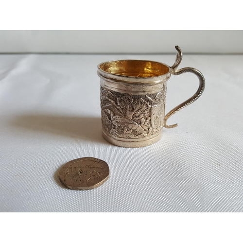 9 - Indian silver small cup...