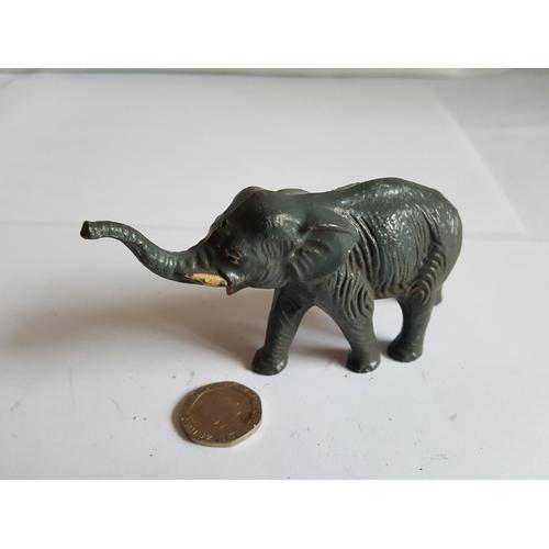 21 - vintage lead elephant...