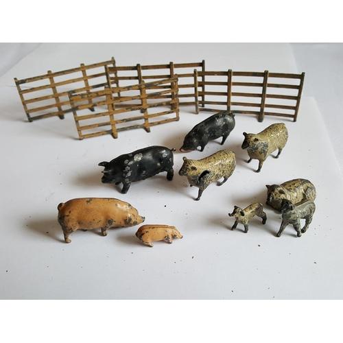 25 - vintage lead farm animals...
