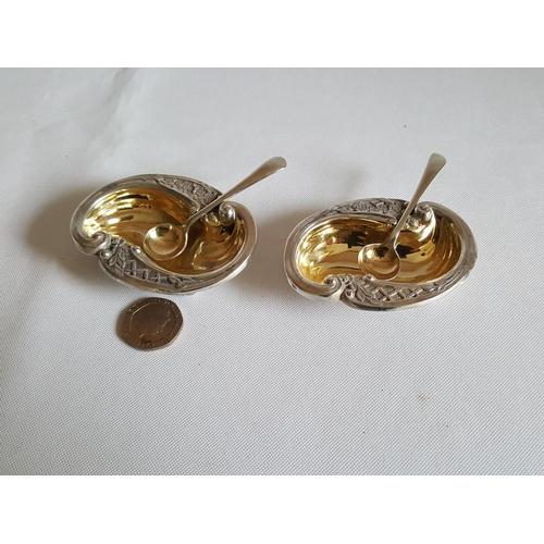 35 - pair HM silver salts c1899...
