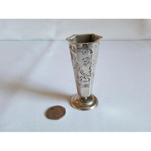 36 - HM silver vase...