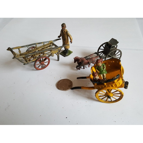 47 - vintage lead carts & barrow...